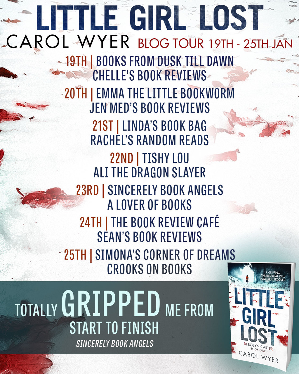 What I Blog About When I Blog About Books Notd Girl On: **Blog Tour** Little Girl Lost By Carol Wyer @bookouture