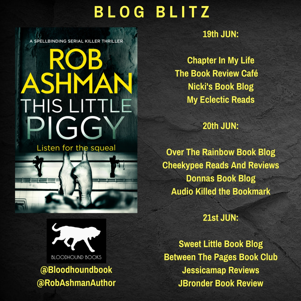 #ThisLittlePiggy by Rob Ashman #BlogBlitz @RobAshmanAuthor @Bloodhoundbook #MustReads