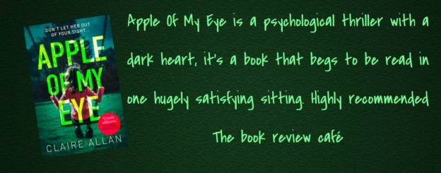 Apple Of My Eye By Claire Allan Mustreads2019 Claireallan